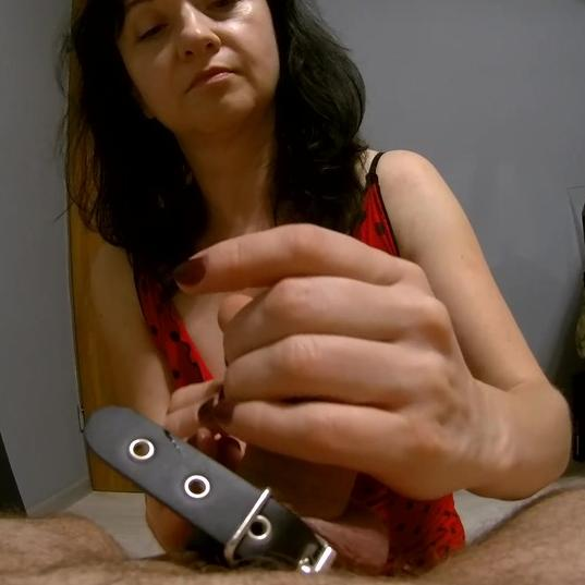 Mature lady giving the best handjob