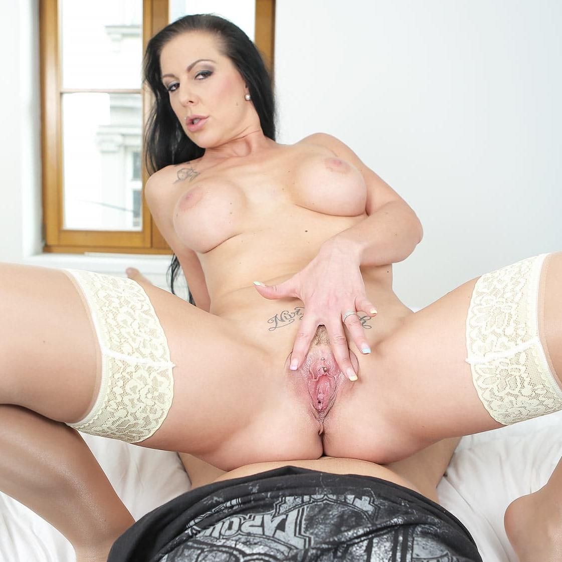 German slut Texas Patti rides cock with her pierced pussy