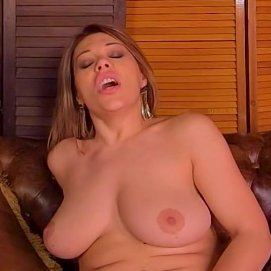 Brunette Valeria Borghese loves playing with her tits and pussy