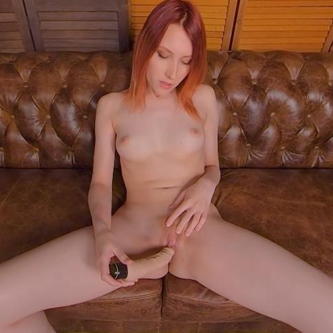 Elin Flame in superb striptease solo action