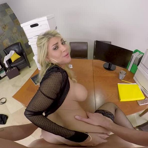 Busty Kayla Spreads Her Legs To pay For Her misdeeds At Office